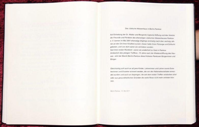 Das Goldene Buch des Stadtbezirks Pankow